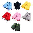 1 Pair Christmas Fall Winter Monster Claw Shape Paw Plush Fur Warm Slippers