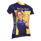ROSIE THE RIVETER WOMEN'S SHORT SLEEVE CYCLING JERSEY- by Retro Image Apparel