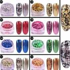 Glitter Aluminum Flakes Magic Mirror Effect Powder Sequins Nail Art Gel Chrome