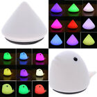 Silicone Pyramid/Dolphin Shape Desk Mount Light RGB LED Car Caring Night Light
