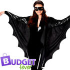 Spooky Dracuella Bat Ladies Fancy Dress Vampire Animal Halloween Womens Costume