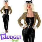 Madonna Celebrity Pop Star Womens Fancy Dress 80s 90s Adults Ladies Costume New