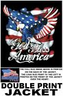 GOD BLESS AMERICA VETERAN AMERICAN PRIDE EAGLE FLAG PATRIOTIC USA JACKET WS615