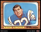 1966 Topps #127 Keith Lincoln Chargers EX $6.5 USD