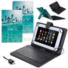 """For Amazon Kindle Fire HD 10 10.1"""" 2017 Tablet Leather Case USB Keyboard Cover"""