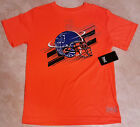 Boys Neon Orange Everlast Football T-Shirt-S-M-L-XL