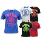 Boys T Shirts Kids Sports Print Tipped Short Sleeved Crew Neck Summer Casual New