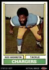 1974 Topps #416 Russ Washington Chargers NM $1.85 USD on eBay
