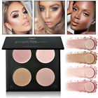 4Color Highlighter Face Powder Contour Kit Concealer Palette Bronzer Makeup Tool