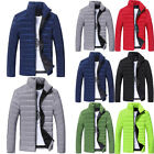 Men Winter Thick Warm Coat Stand Collar Cotton Padded Outwear Zipper Jacket Coat