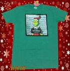 New Dr. Seuss The Grinch Christmas Wanted Poster Mens Vintage T-Shirt image