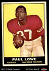 1961 Topps #167 Paul Lowe Chargers VG $4.0 USD on eBay