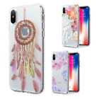 For Apple iPhone X Premium Etched 3D TPU Hard Skin Case Phone Cover Accessory