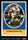 1972 Sunoco Stamps Walt Sweeney Chargers EX/MT $5.5 USD on eBay