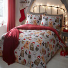Bedlam Festive Animals Christmas Reversible Duvet Cover Set, Multi