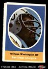1972 Sunoco Stamps Russ Washington Chargers EX/MT $0.99 USD
