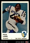 1961 Fleer #157 Paul Lowe Chargers VG $5.5 USD on eBay