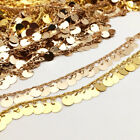 Rose Or Gold Dangling Coin Chain Charms Beads Beaded Links Chain 6mm