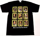 WEST COAST RAPPERS T-shirt Gold Frame Hip Hop Rap Tee Adult L-4XL Black New