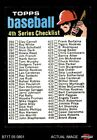 1971 Topps #369 Checklist 4 Orange Helmet with No Line above his Left Ear NM