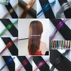 New 1PC Colorful Long Bling Hair Extension Tinsel Extensions For Women EN24H