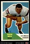 1960 Fleer #118 Ron Mix Chargers VG $19.5 USD
