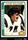 1978 Topps #360 Louie Kelcher Chargers EX/MT $1.5 USD on eBay