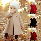 Winter Girl Kid Baby Outwear Cloak Button Jacket Warm Coat Snowsuit Clothes Gift