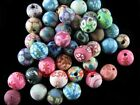 Mixed Flowers Color Polymer Fimo Clay Round DIY Finding Loose Spacer Bead 6~16mm
