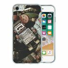 Silicone Phone Case Back Cover Vintage Toy Robot - S4804