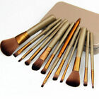 Pro 12pcs Makeup Cosmetic Brushes Set Powder Foundation Eyeshadow Lip Tool N