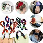 Multipurpose Casual Women Girls Square Scarf Colorful Wrist Strap Small Scarves