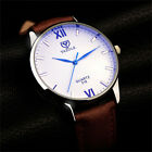 Luxury Chic Men's Watch Leather Stainless Steel Quartz Big Dial Analog Watches
