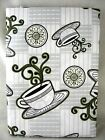 Asstd Sizes Expresso/Grey Cooking Light Magazine Vinyl Tablecloth FREE SHIPPING