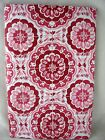 Assorted Sizes Deep Red & White Medallion Vinyl Tablecloth NEW FREE SHIPPING
