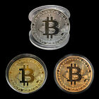 Silver/Gold Plated Bitcoin Coin Collectible BTC Coin Art Collection Physical Lot