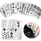 BORN PRETTY Square Nail Stamping Plates Lace Flower Animal Nail Image Templates