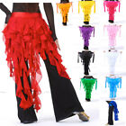BQY02 Solid Color Chiffon Long Tassel Womens Ladys Belly Dance Hip Scarf