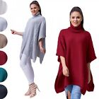 Glamour Empire Women's Warm Knit Poncho Sweater Batwing Cape Top Jumper 964