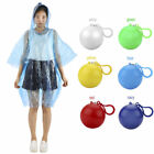 Kids Poncho Childen Hooded Waterproof Disposable Clip Keyring Ball Raincoat Hot