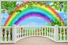 Huge 3D Balcony Childrens Fairytale Rainbow Wall Stickers Wallpaper 181