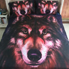Wolf Painting Duvet Cover Pillowcases Twin Full Queen 3D Vivid Bedding Set New