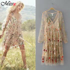 Trend Conscious Floral Embroidered Beige Mesh Wedding Dress Genuine Bloggers Fav