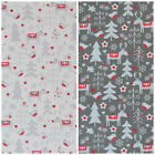 Rudolph & Robins 100% cotton fabric ivory or grey per 1/2 Metre / Fat quarter