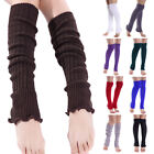 Women Warm Leg Warmers Cable Knit Knitted Crochet Long Thigh High Socks USA Ship