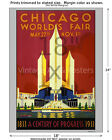 1933 Chicago Worlds Fair #3 Vintage Art Deco Poster [4 sizes matte+glossy avail]