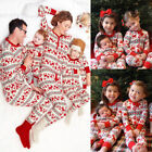 XMAS Family Matching Women Kids Sleepwear Nightwear Pajamas Set Pyjamas H