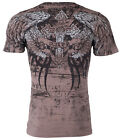 XTREME COUTURE by AFFLICTION Mens T-Shirt ROT Cross Wings Skulls Biker $40 image