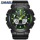 Mens Fashion Wristwatches Waterproof LED Dual Display Movements Watches Sports