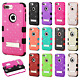 For iPhone 8 & 8 PLUS HYBRID IMPACT TUFF Diamond KICK STAND Case + Screen Guard